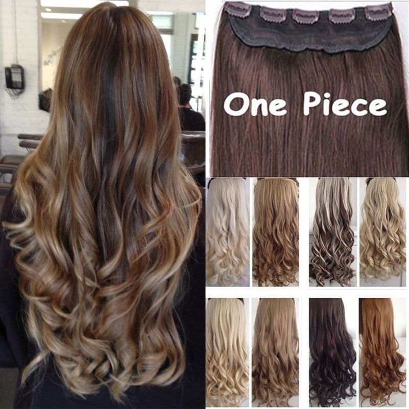 Real Thick24 26 Inch34 Full Head Clip In Hair Extensionsbrown