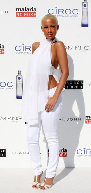 Amber Rose White Party Celeb Styles Pinterest Amber Rose