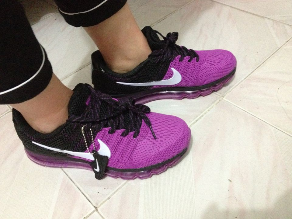 2c0ece71424255 ... Nike Air Max 2017 Women Black Purple KPU Shoes ...