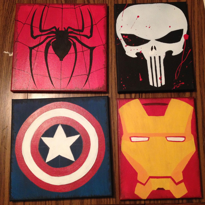 Spiderman punisher captain america ironman superhero for America s finest paint