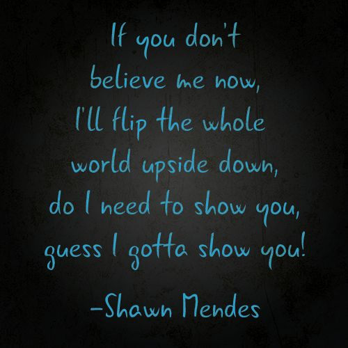Shawn Mendes Gave Us Lyrics to His Brand-New Song, and ...