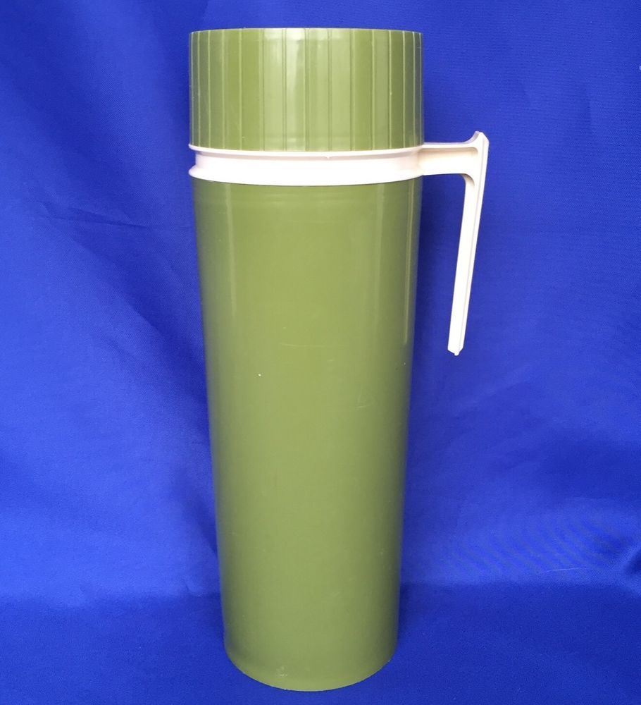 King Seeley Thermos Wide Mouth 24 OZ Green Plastic 7402 Removable ...