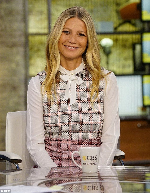 Promotional trail is in full swing: Gwyneth was also promoting the new release on CBS This Morning on Wednesday - during which she was quizzed about her busy life as an actress, author, entrepreneur and a mother
