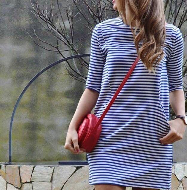 el estilo marinero , navy , rayas ... vuelve con fuerza esta temporada de #primavera ... este precioso vestido de #celoppunto   SHOP ONLINE >> http://goo.gl/aP7DGq   PVP  27.99 €   .