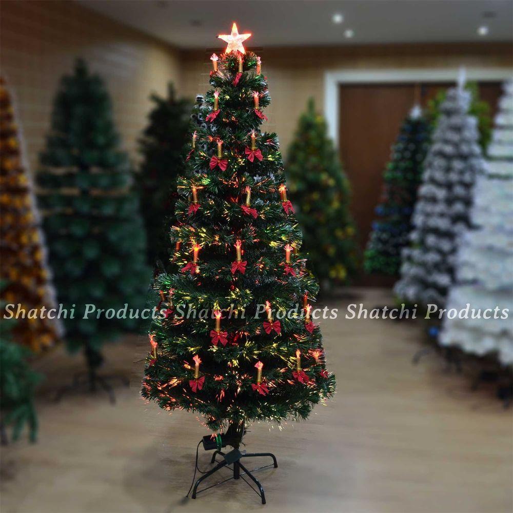 LED Fibre Optic Christmas Tree Pre Lit Xmas Decorative Tree 6064 3ft (90cm)