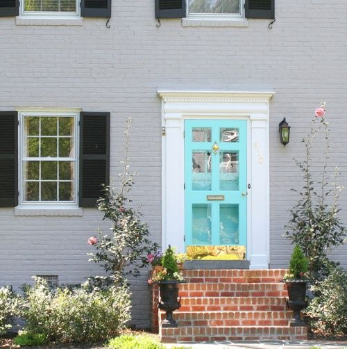 Love The Color Gingersutton Front Door Colors Aqua Front Doors Door Color