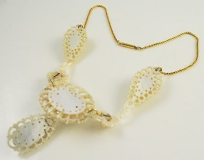 VINTAGE-VICTORIAN-EDWARDIAN-SEED-PEARL-NECKLACE-WITH-18K-GOLD-CHAIN