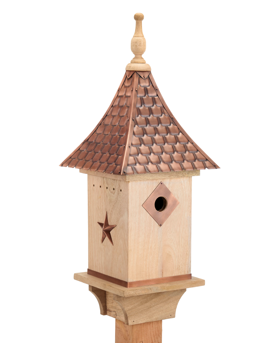 Coppersmith Moscow Bird House In Natural Copper In 2020 Bird House Good Directions Copper Roof