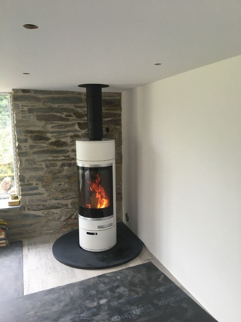 Scan 85 In St Merryn Wood Burning Stove Installation From Kernow Fires Stove Installation Wood Burning Stove Freestanding Fireplace