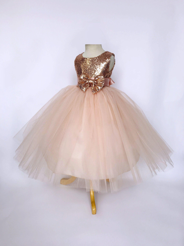 bdefa7fa43b7d Etsy Rose Gold Flower Girl Dress   Lixnet AG