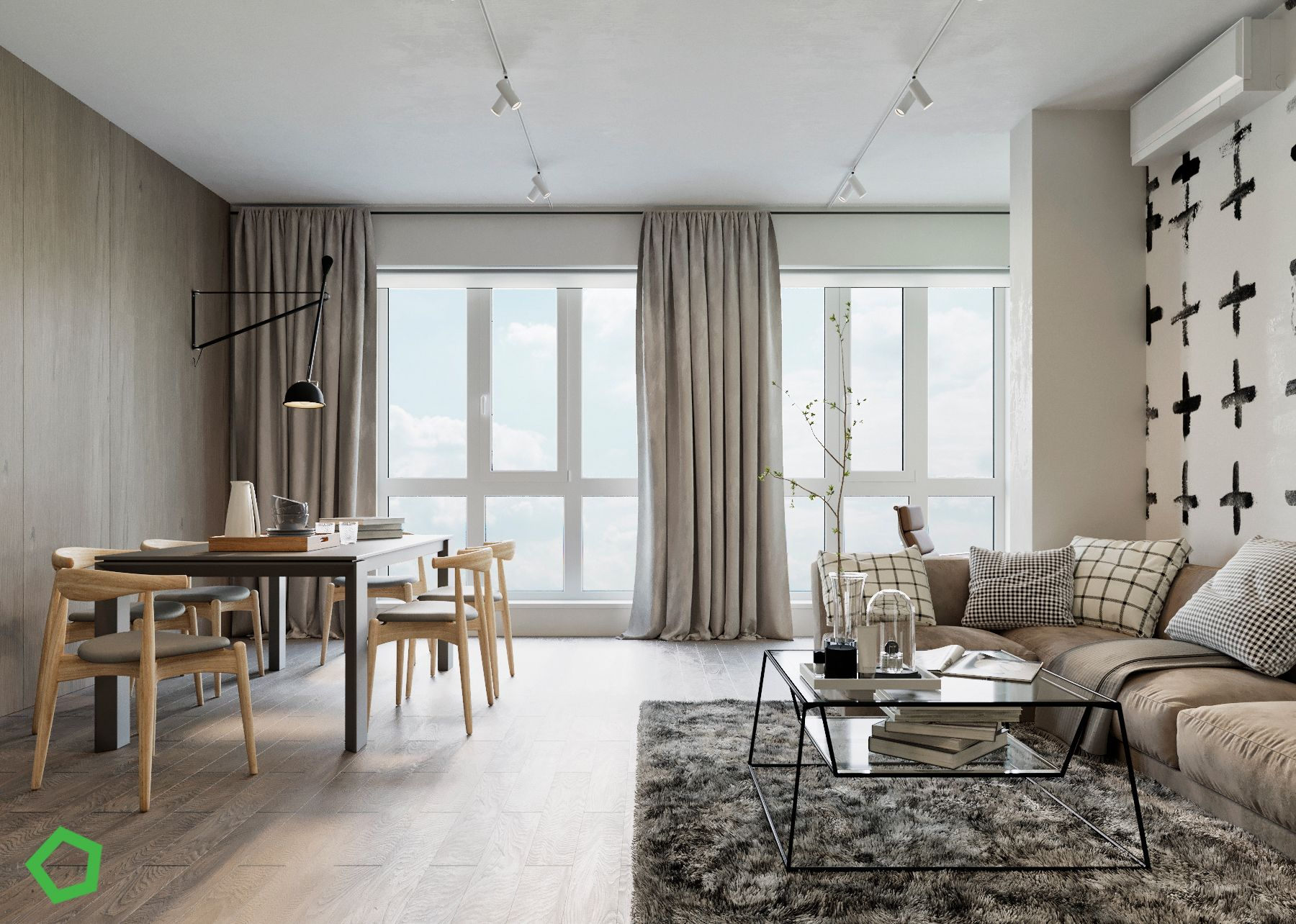 Balancing efficiency with comfort is a constant challenge for designers but these three single bedroom apartments serve as inspiring examples of success