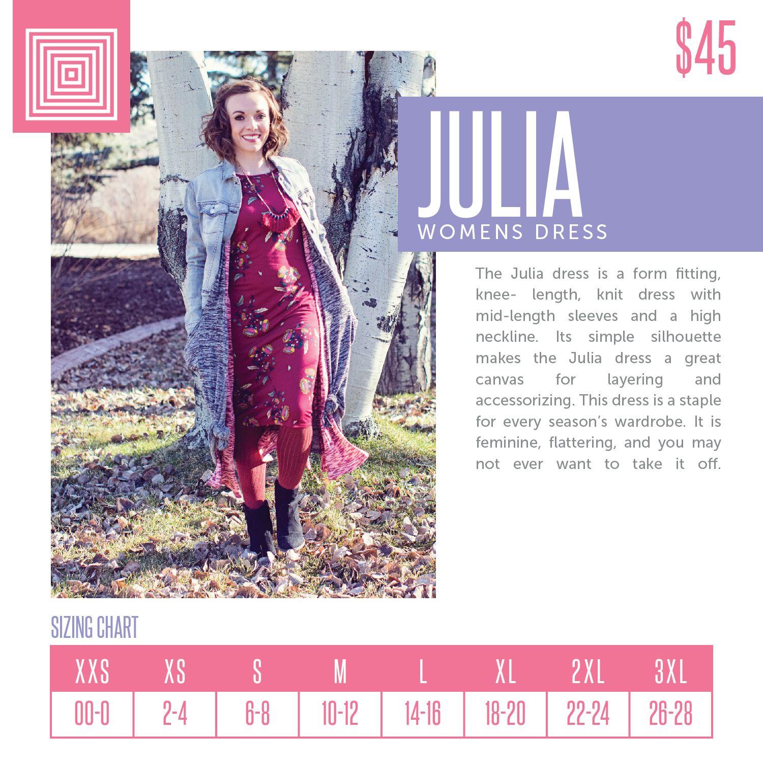 Lularoe julia sizing chart also business graphics in rh pinterest