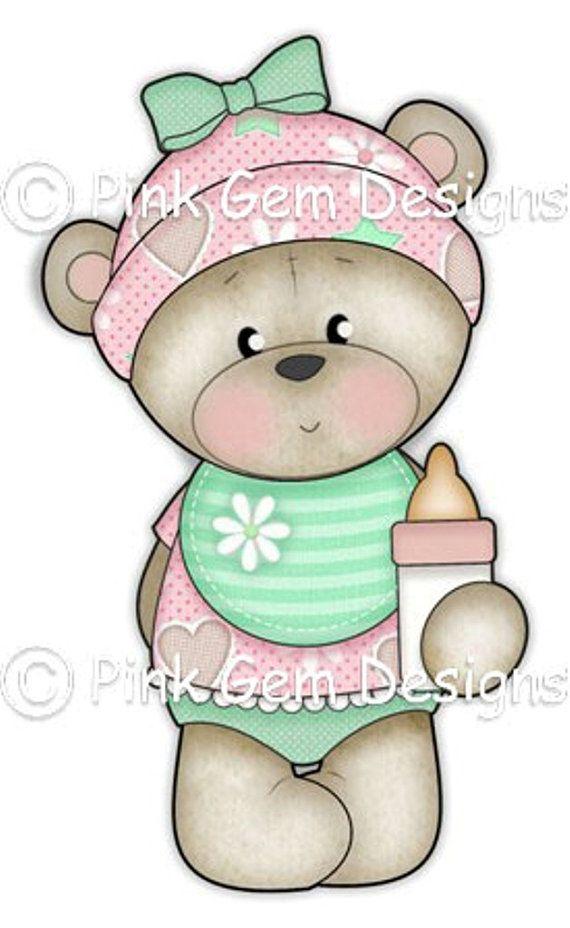 Digi Stamp Baby Bella. Makes Cute Birthday by PinkGemDesigns