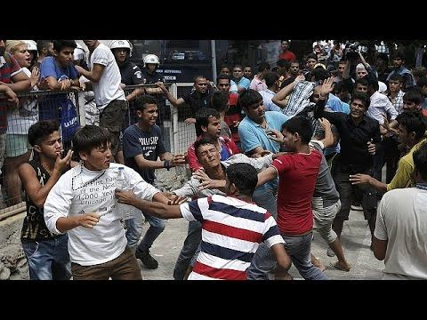 Violence on Kos as Greece struggles to cope with migrant numbers