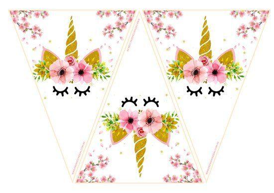 Kit de Unicornios para Cumpleaños unicornios Imprimibles unicornio gratis, Decoracion