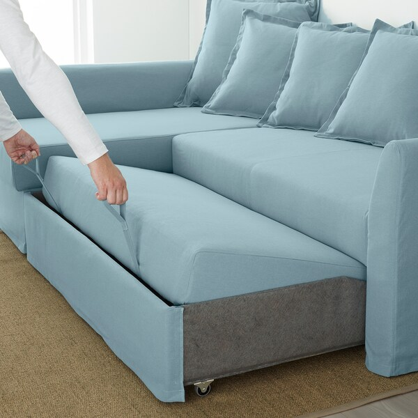 Holmsund Sleeper Sectional 3 Seat Orrsta Light Blue Sectional Sleeper Sofa Corner Sofa Bed Sleeper Sectional
