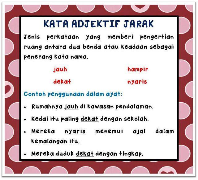 Kata Sifat Adjektif I Nota Bahasa Malaysia Flashcards Learning Airline