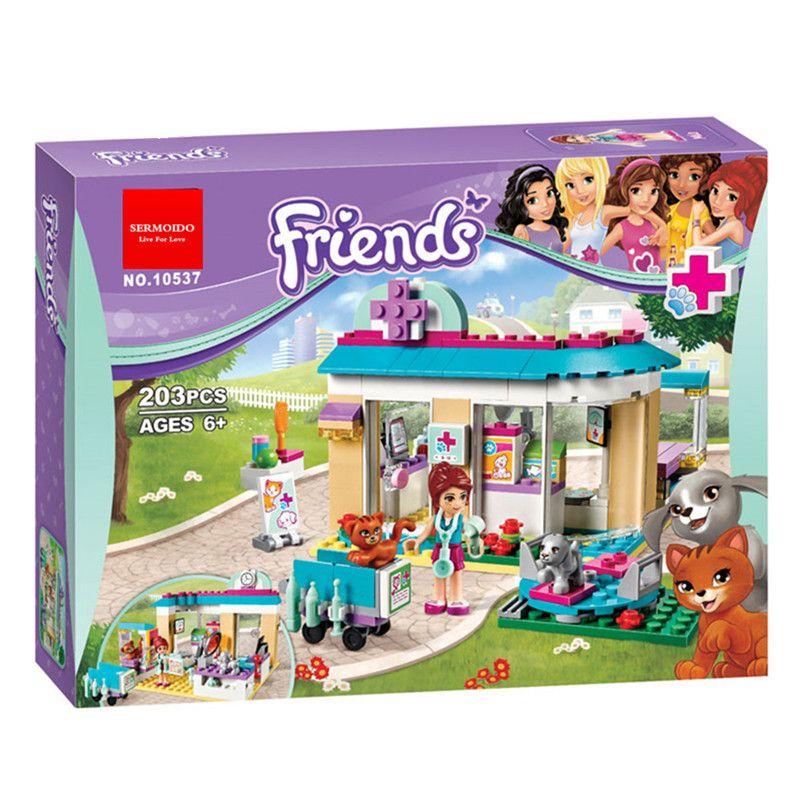 Click To Buy Sermoido Bela 10537 Friends Vet Clinic Blocks Toys For Children Bricks Toys Girl Game Toys For Children Lego Friends Vet Clinics Pet Clinic