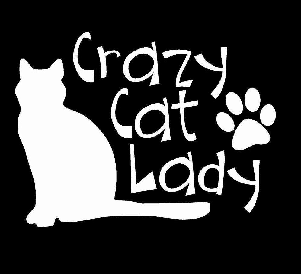 Cat Car Decal Crazy Cat Lady Decal Cat Lover Sticker Decal For Car Cat Decal Gift Gift For Cat Lover Vinyl Decals Dec Crazy Cats Crazy Cat Lady Cat Decal [ 905 x 997 Pixel ]