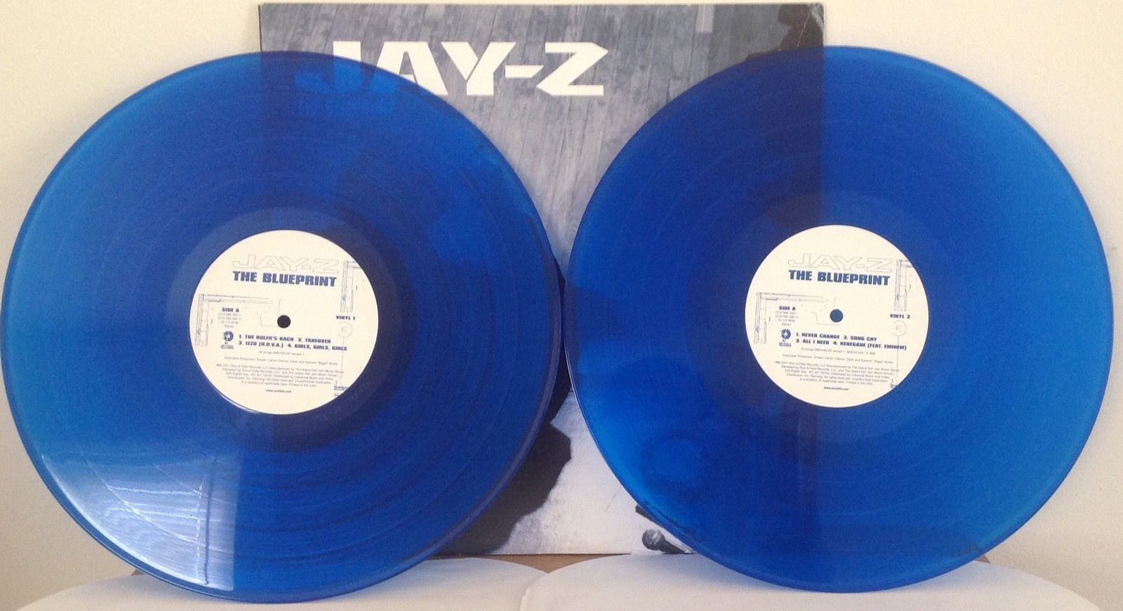 Jay z the blueprint original promo blue vinyl 2 lp 2001 rocafella jay z the blueprint original promo blue vinyl 2 lp 2001 rocafella records kanye malvernweather Image collections