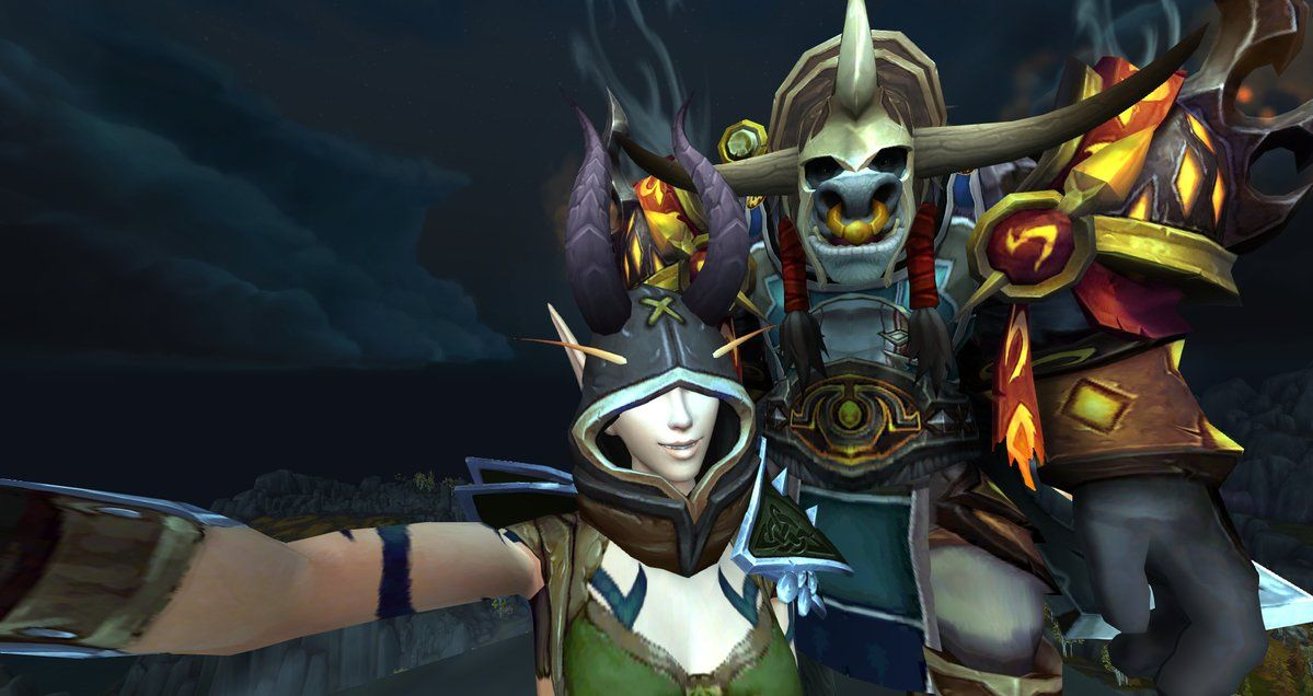 """Eluvia on Twitter: """"@thatopsguy and I on top of the world :D #Warcraft #selfie…"""