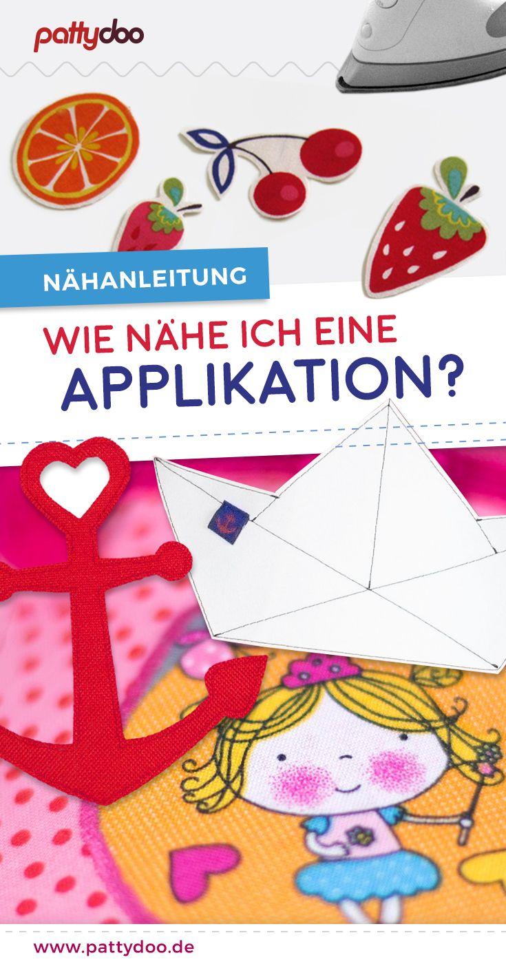 Coudre sur une application   – nähen + sticken