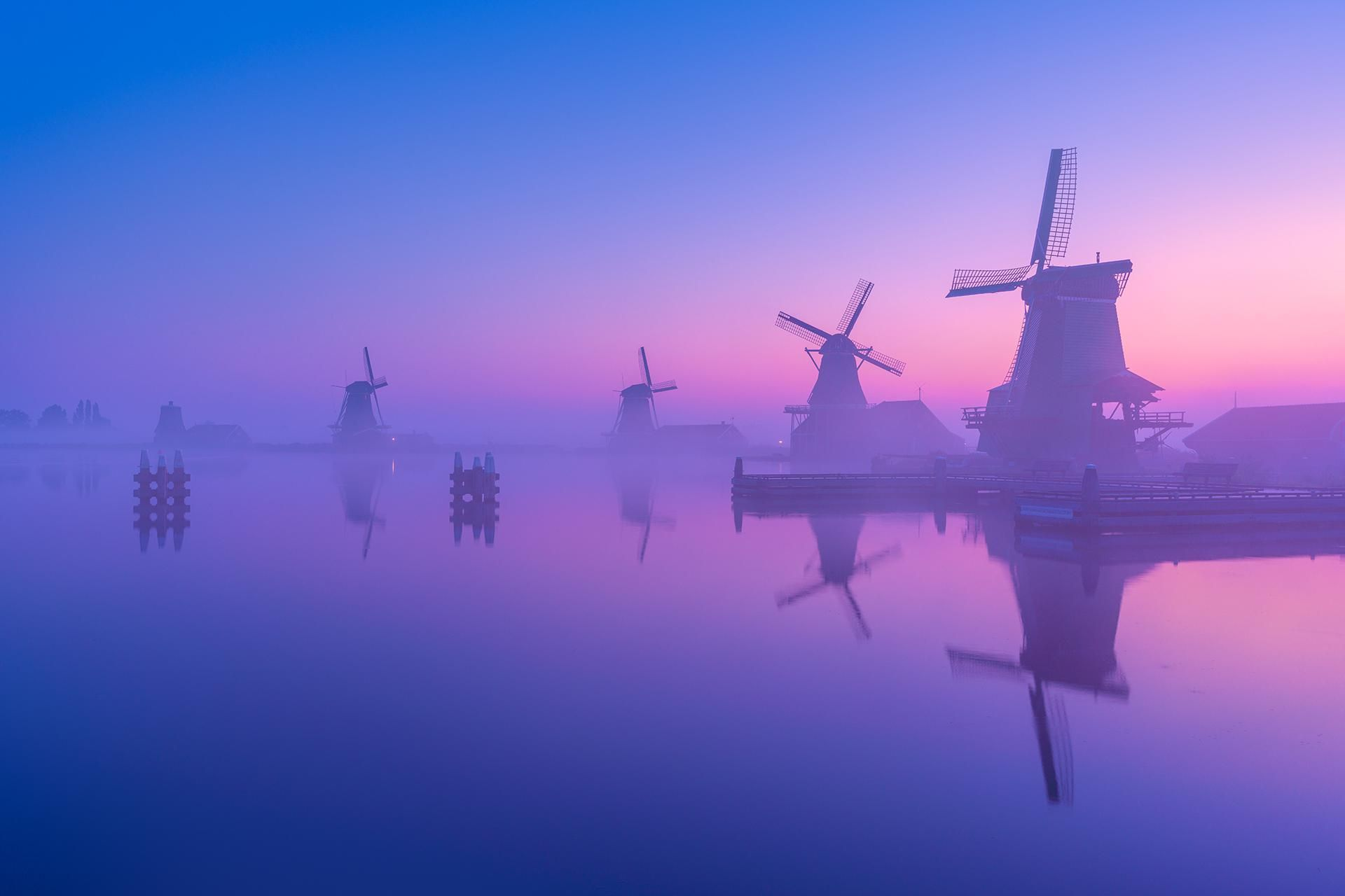 A Calm Morning In The Netherlands Mostbeautiful Landscape
