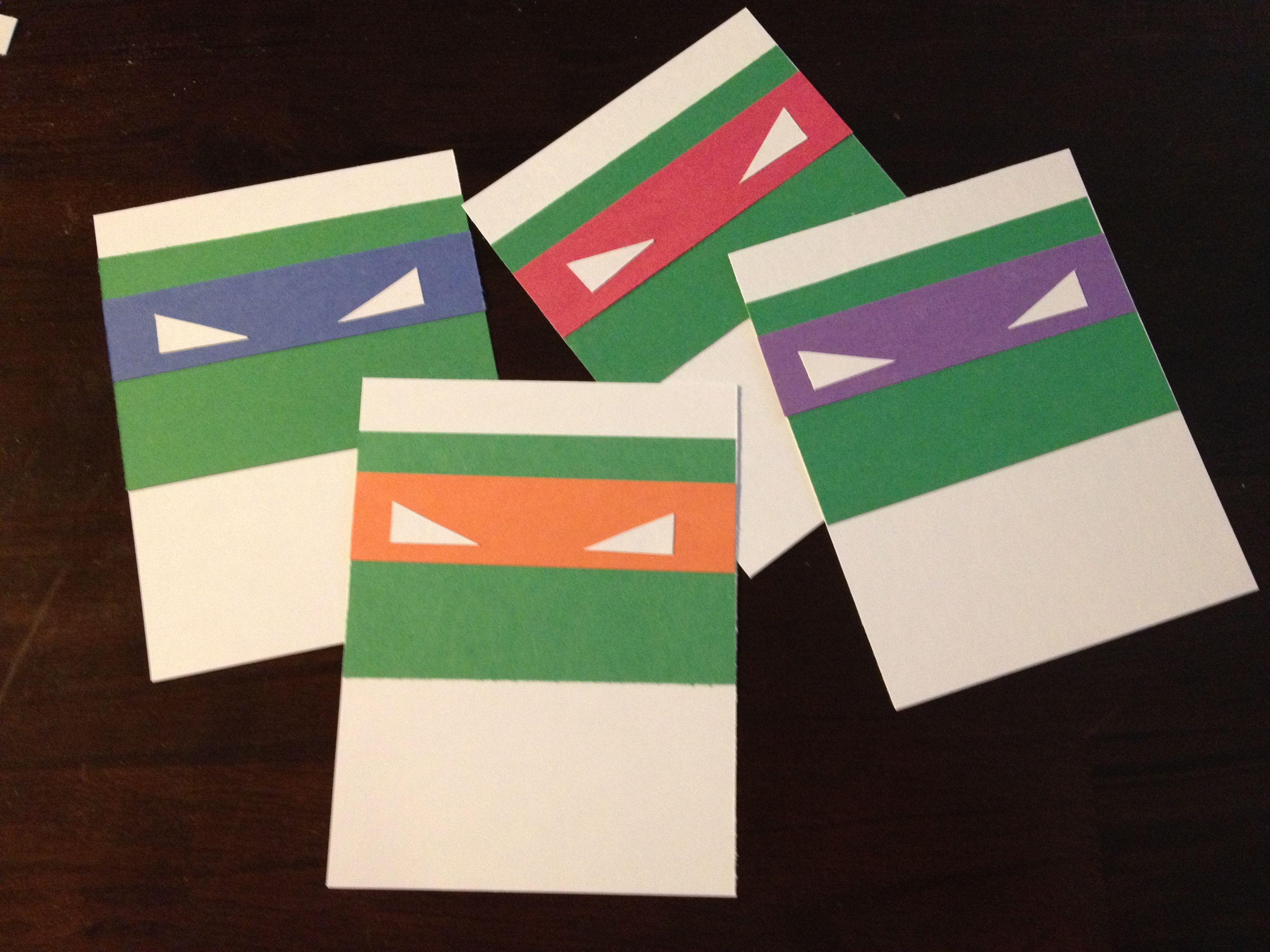 Easy cheap DIY Teenage Mutant Ninja Turtles (TMNT) door dec. White card & 846 best [Door Decs] images on Pinterest | Ra door decs Door ... Pezcame.Com