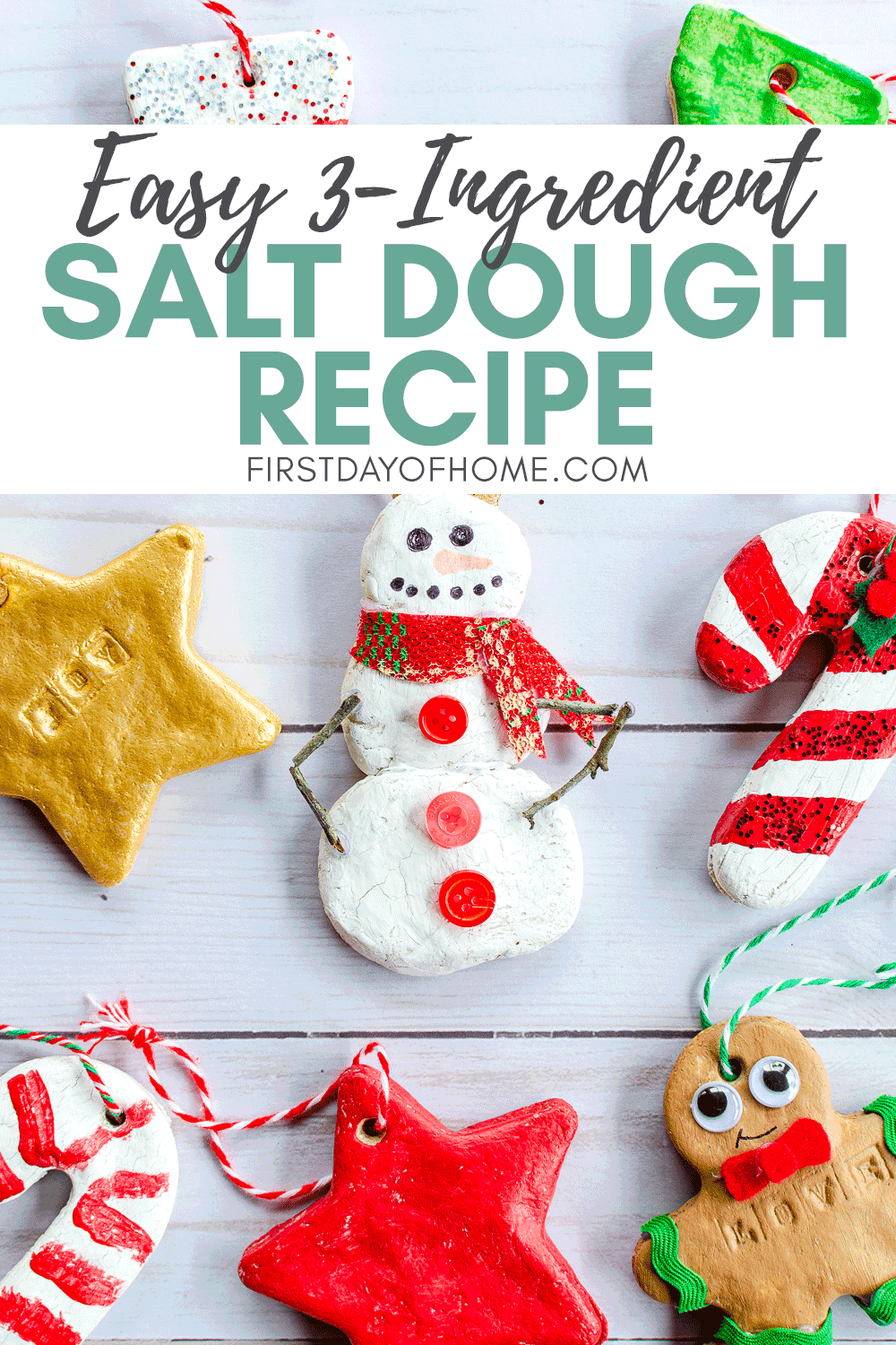 How To Make Salt Dough Ornaments The Kids Will Love Recipe Salt Dough Christmas Ornaments Dough Ornaments Salt Dough Ornaments