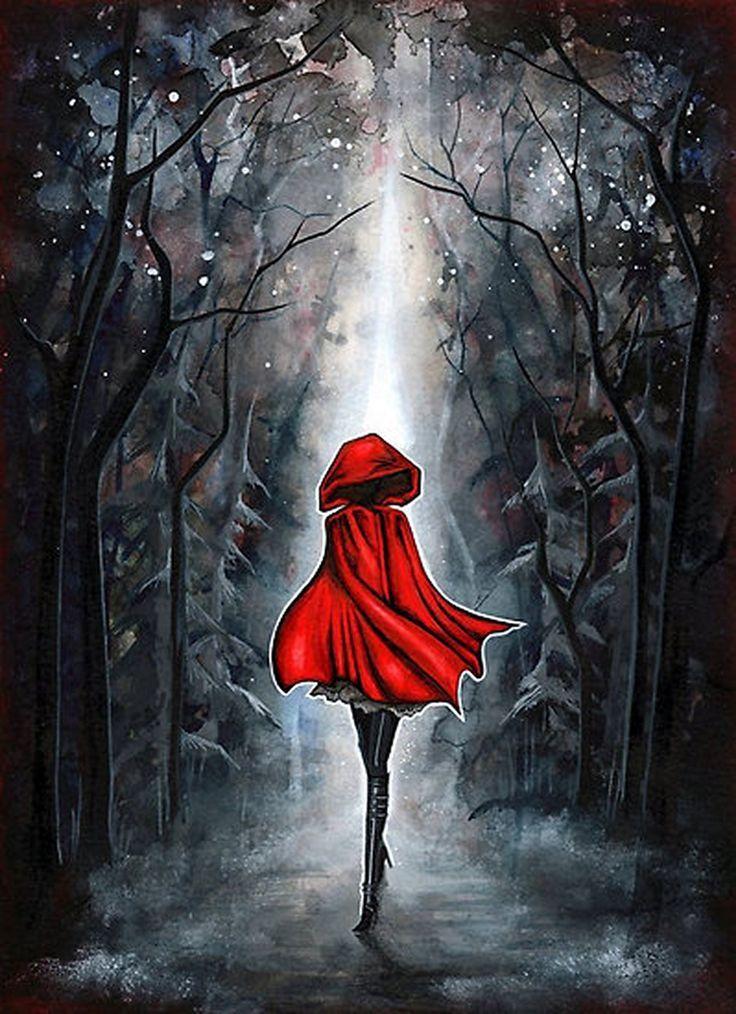 Red Little Red Riding Hood Dark Fantasy Art Gothic Goth