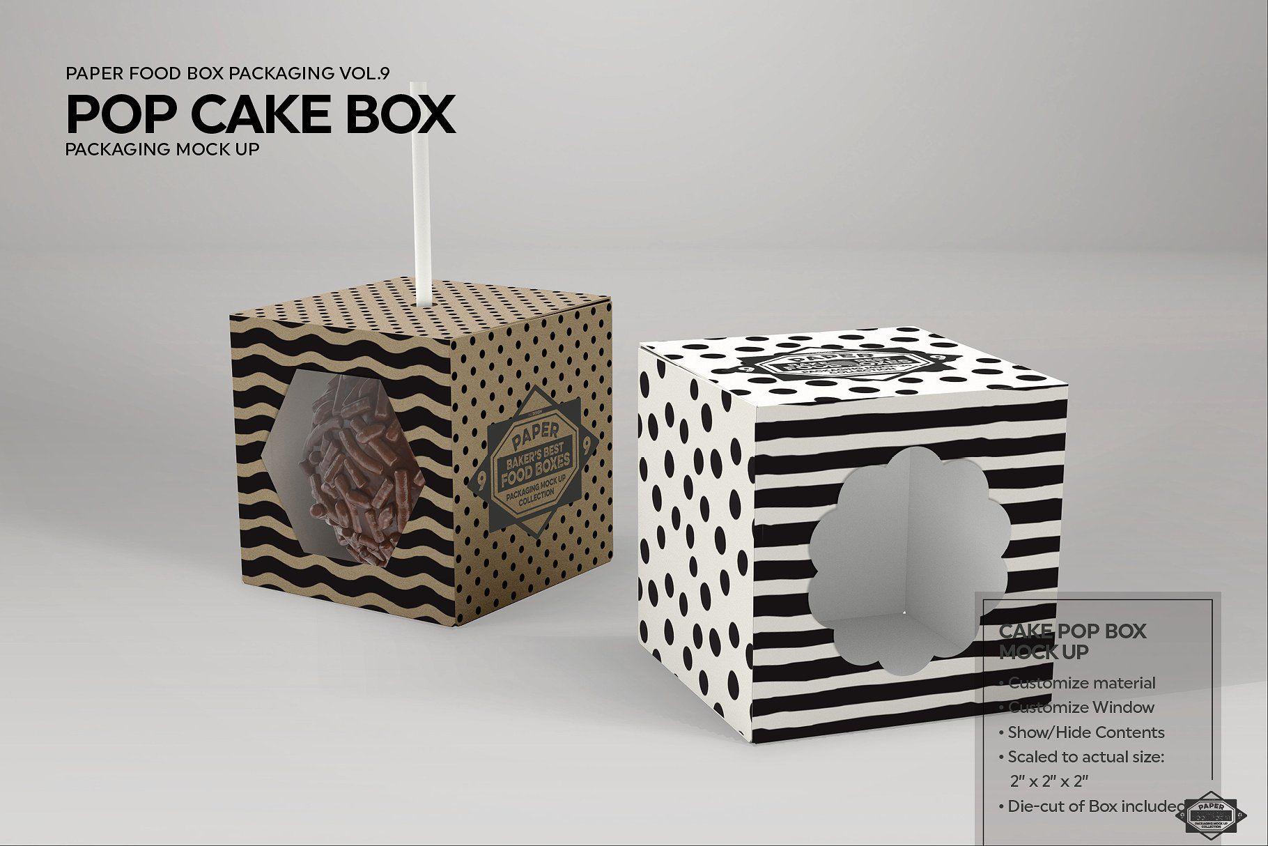 Download Cake Pop Box Packaging Mockup Food Box Packaging Cake Pop Boxes Box Packaging