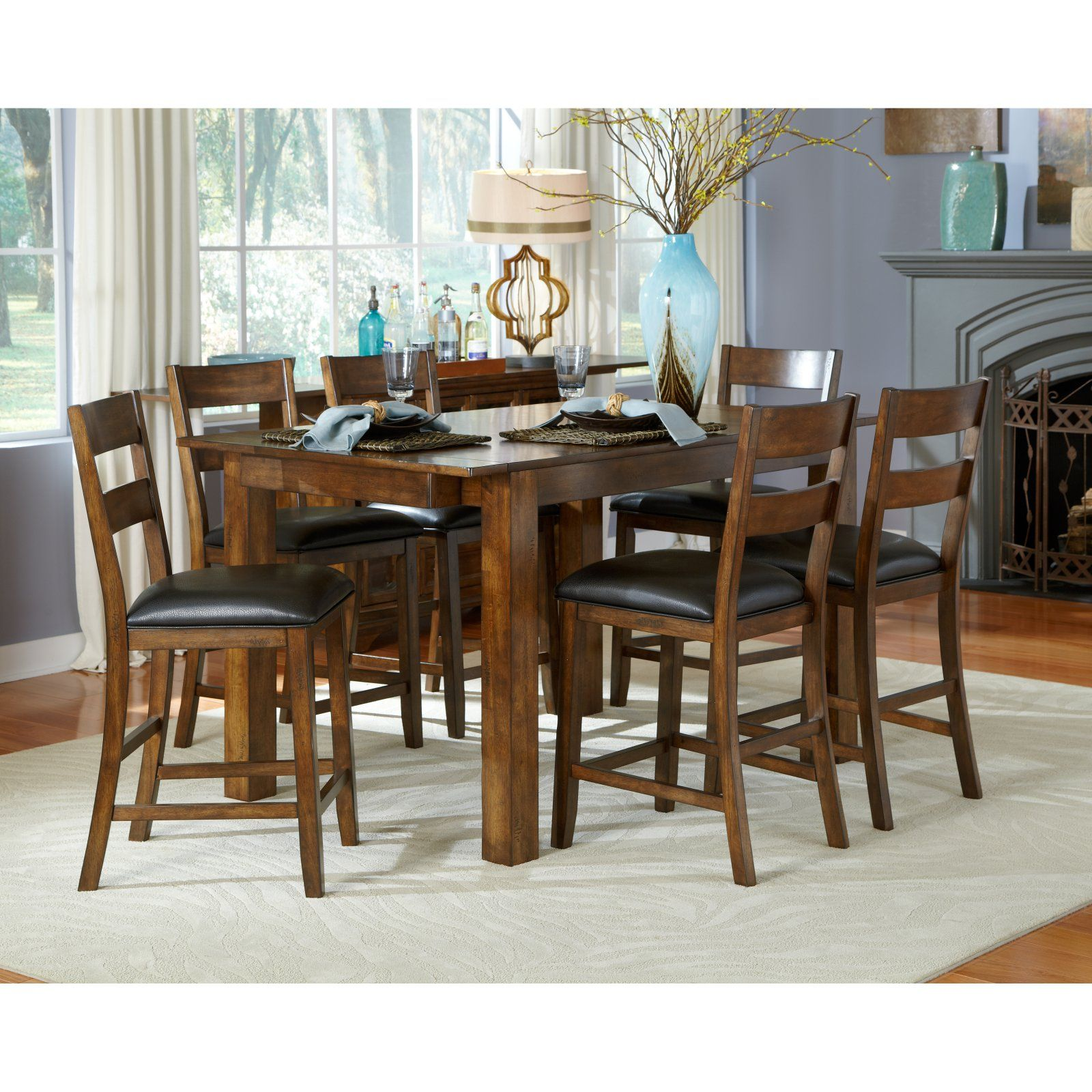 Aamerica mariposa gathering counter height dining table