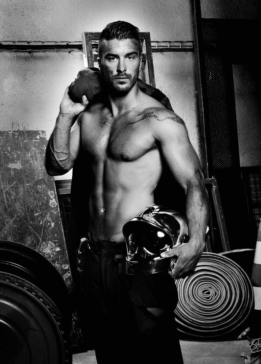 French Firefighters Release Charity Calendar 2016 Fire Risk Rises