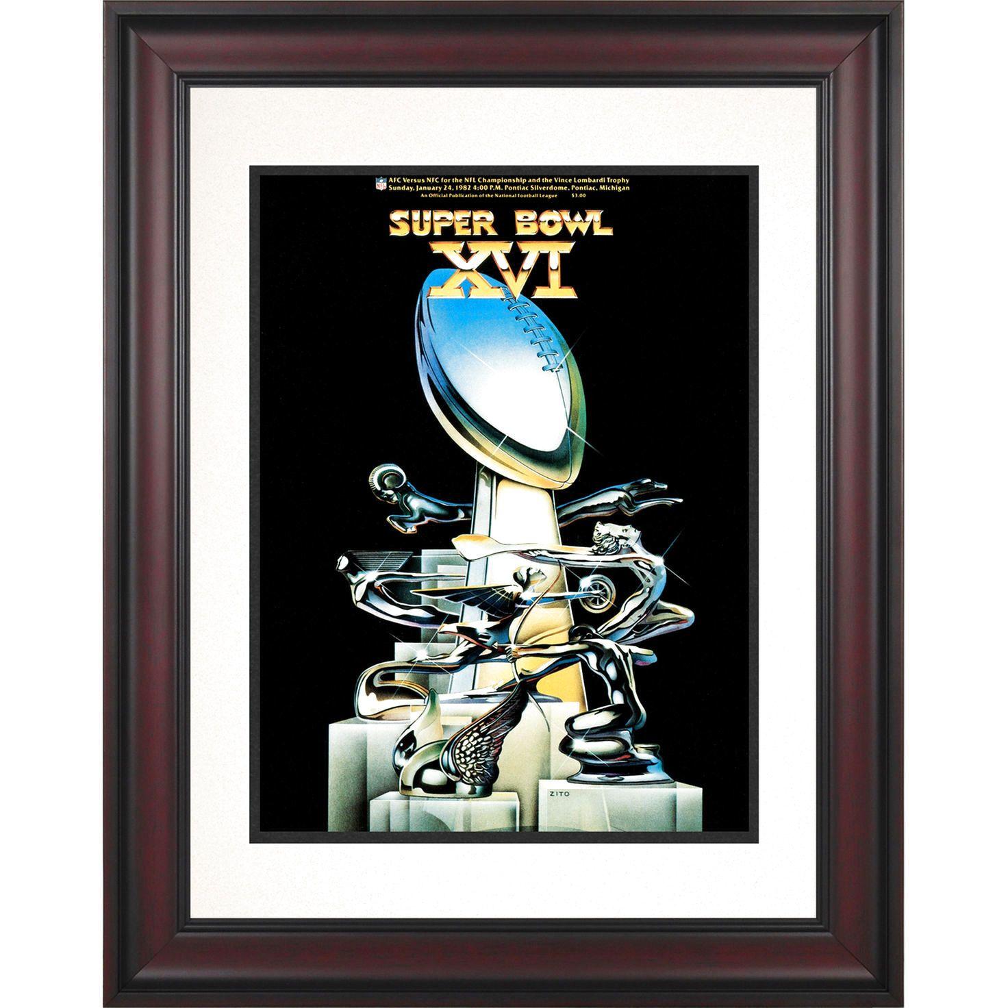 """Fanatics Authentic 1982 49ers vs. Bengals Framed 10.5"""" x 14"""" Super Bowl XVI Program - $71.99"""