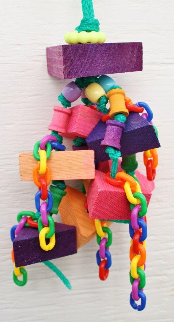 Pine Triangle Toy Medium Bird Toy SoftWood by WhiteWingBirdToys, $16.25