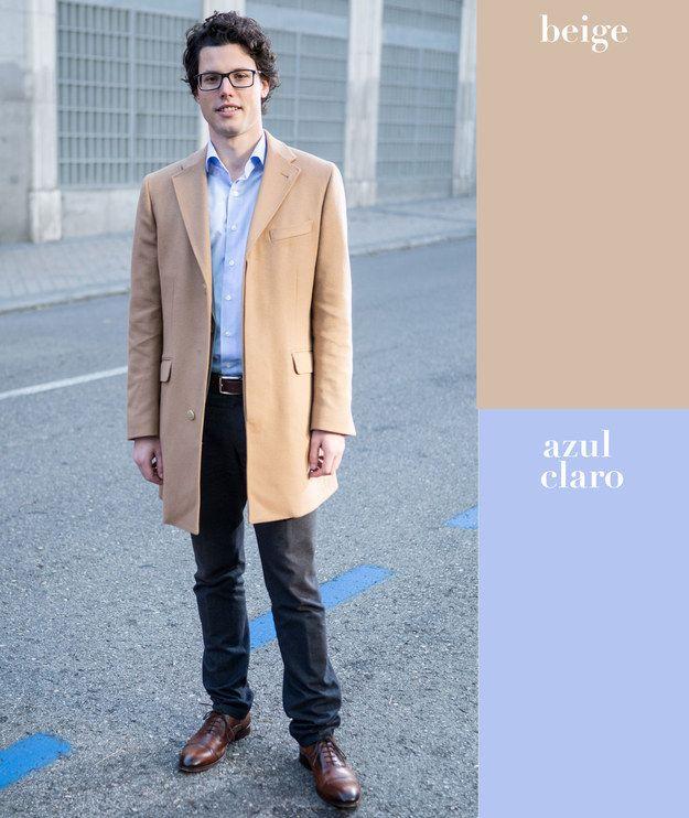 17 combinaciones de color que todo hombre puede usar - Color beige claro ...