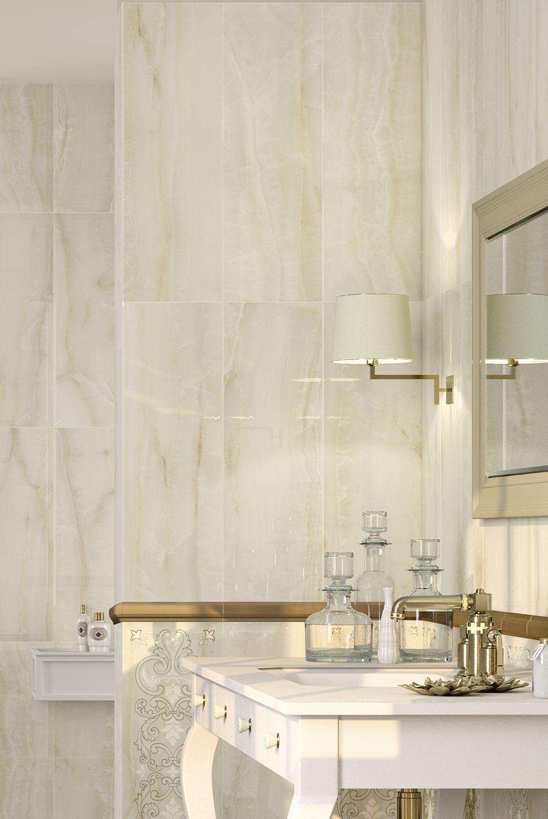 Onix   Marble Look Bathroom Wall Tile Covering