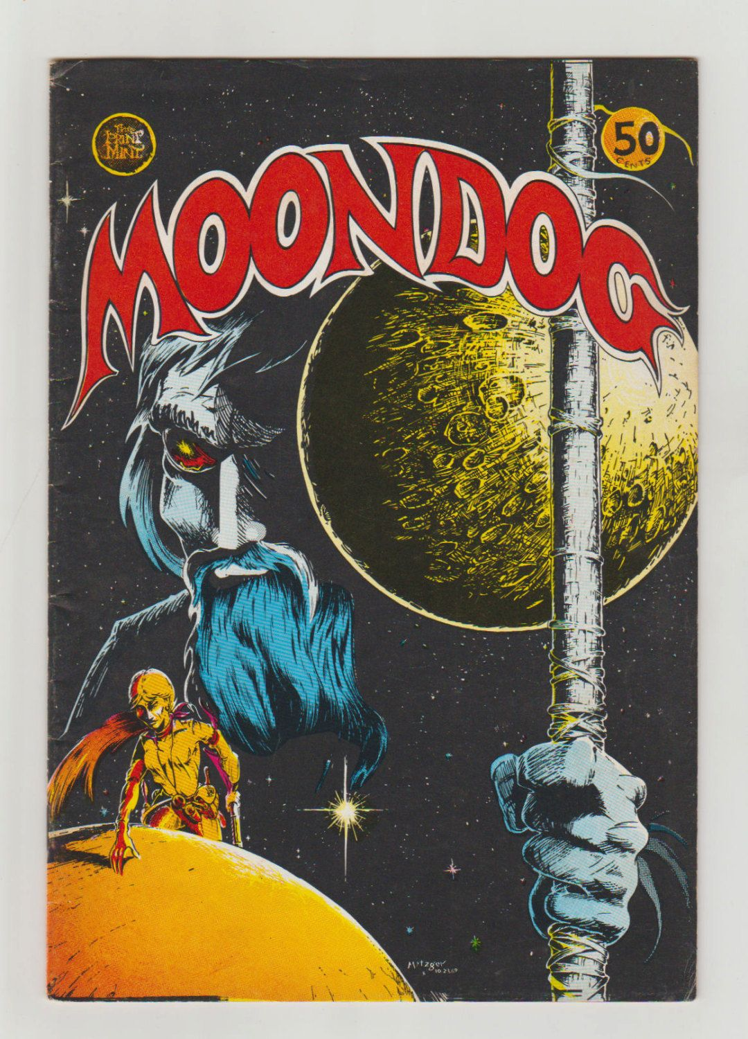 Moondog; Vol 1, 1, Bronze Age Comic Book. FN. March 1970. Print Mint. #moondog #georgemetzger #comicsforsale