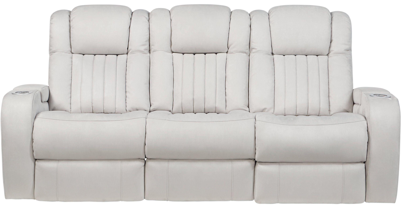 Sofas Rooms To Go Weston Light Gray Power Reclining Sofa