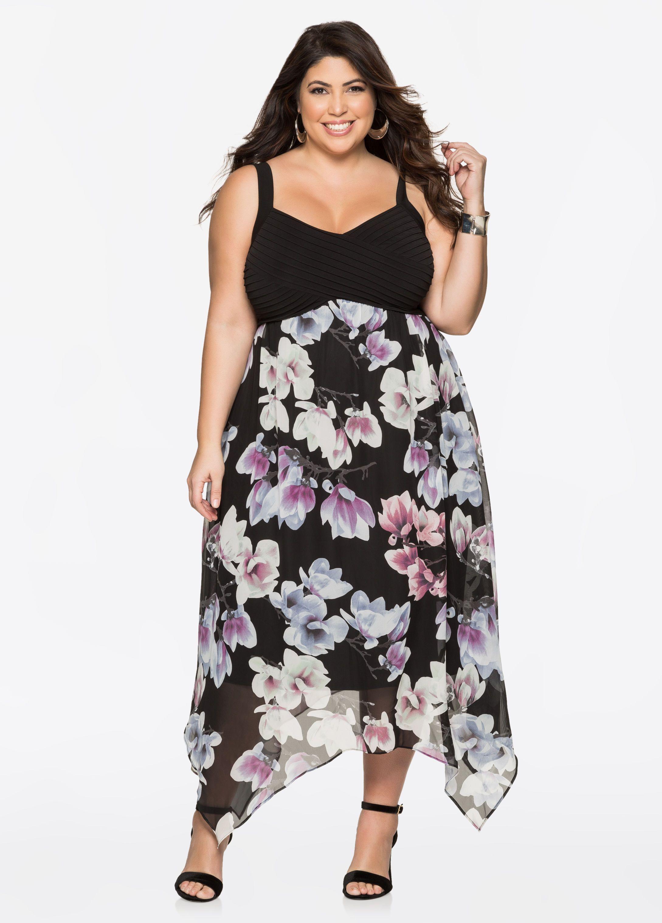 a800718a783 Floral Chiffon Maxi Dresses - Ashley Stewart