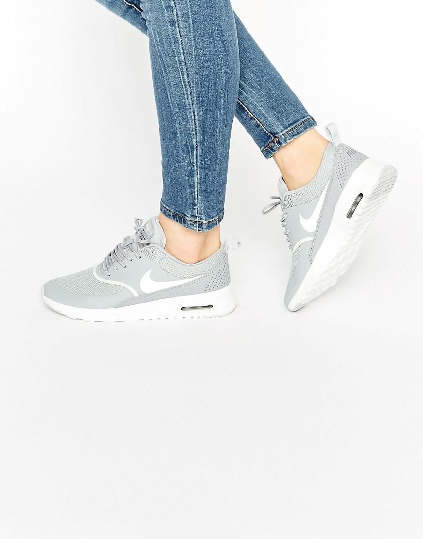 Nike | Nike Air Max Thea Trainers In Grey And White at ASOS