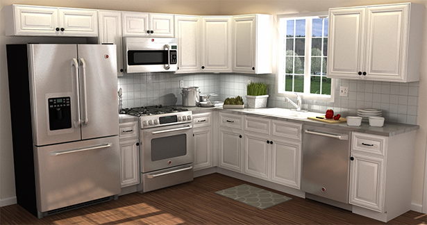 All Wood Cabinetry From Costco. This Is My Kitchen Exactly How I Want It!