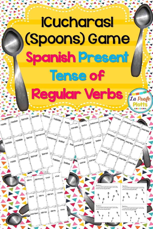 Regular Present Tense Verbs Cucharas Game Spanish Spoons Game Present Tense Verbs Irregular Preterite Preterite [ 1440 x 960 Pixel ]