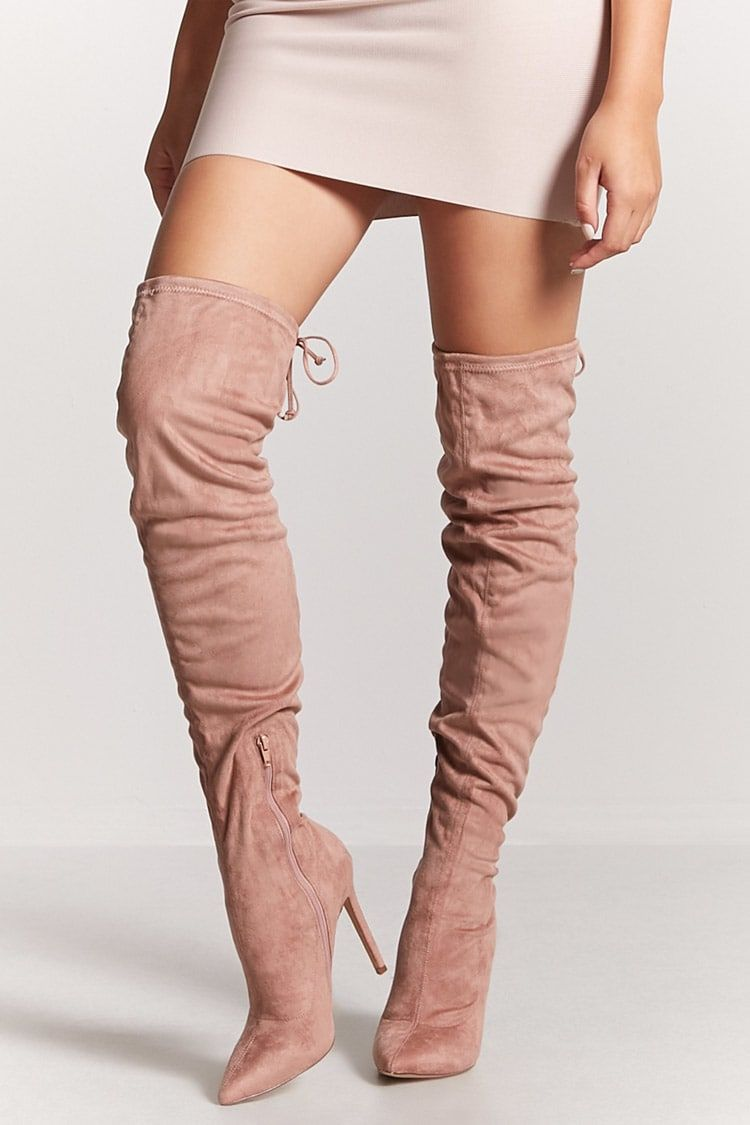 32fbdfb3e Crushed Velvet Over-the-Knee Boots. Product Name Faux ...