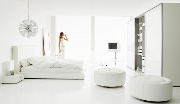 cooles schlafzimmer in weißer farbe - moderne möbel Homes