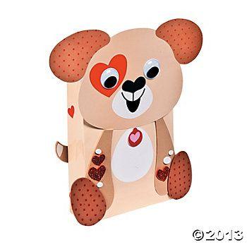 Puppy Valentine Card Holders Craft Kit oriental trading