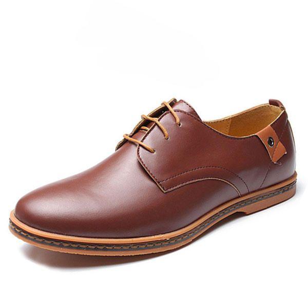 Large US Size 7.5-12 Men Business Shoes Flat Casual Soft Oxfords Shoes -  Banggood Mobile 18e898b044a