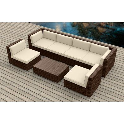 Best Urban Furnishings 7 Piece Sectional Set With Cushions 400 x 300