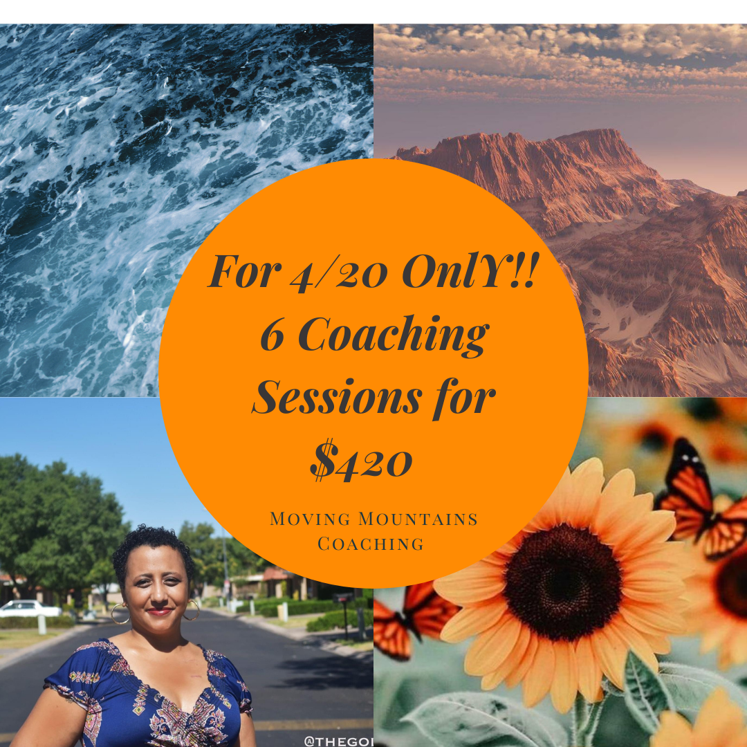 Only until 4/23 one you can get 6 Master one on one coaching Sessions for just $420. This package is regularly $644. 💫Stress Management 💫Increase Self Belief 💫Make a plan to achieve your Dreams 💫Improve Self Love & Self Care Practices Book at