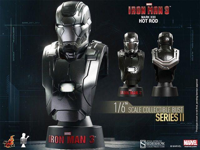 Pré-Encomenda:  Iron Man 3 Bust 1/6 Series 2 Iron Man Mark XXII Hot Rod 11 cm  Para mais informações clica no seguinte link: http://buff.ly/1lzlNsE